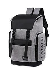 povoljno -Velika zapremnina Poliester Patent-zatvarač ruksak Color block Vanjski Crn / Sive boje