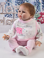 cheap -Reborn Baby Dolls Clothes Reborn Doll Accesories Cotton Fabric for 22-24 Inch Reborn Doll Not Include Reborn Doll Elephant Soft Pure Handmade Girls' 4 pcs