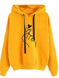 cheap -Women's Hoodie Sweatshirt Graphic Casual Hoodies Sweatshirts  Wine Black Yellow