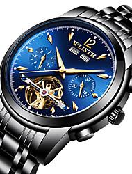cheap -WLISTH Men's Dress Watch Mechanical Watch Analog - Digital Automatic self-winding Sporty Casual Calendar / date / day Hollow Engraving