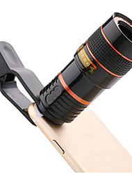 cheap -outdoor tools Camping equipment universal 12 times mobile phone telephoto telescope head HD external camera lens 12X zoom focus