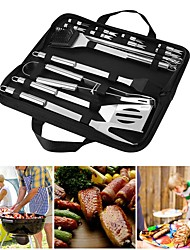 cheap -Barbecue Grilling Utensil Accessories 20 Pcs Stainless Steel Camping Outdoor Cooking Tools Kit
