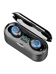 cheap -F9-8U TWS Wireless Earbuds Bluetooth V5.0 Earphones Sports Waterproof Wireless Earphone Headset