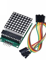cheap -MAX7219 Dot Led Matrix Module 8*8 MCU LED Display Control Module For Arduino 5V Interface Module 8x8 Output Input Common Cathode