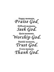 cheap -Thank God Thanksgiving God A Generation Of Carved English Proverbs Home Background Decoration Removable Stickers