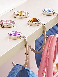 cheap -Multicolor Portable Metal Folding Purse Handbag Hanger Bag Holder Folding Table Bag Hook 1pc