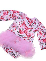 cheap -Reborn Baby Dolls Clothes Reborn Doll Accesories Cotton Fabric for 22-24 Inch Reborn Doll Not Include Reborn Doll Flower Soft Pure Handmade Girls' 1 pcs