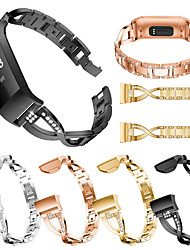 cheap -Stainless Steel Watch Band for Fitbit Charge 4 / Fitbit Charge 3 Bands Metal Bracelet fashion Watch Wristbands for Fitbit Charge 4 / Fitbit Charge 3