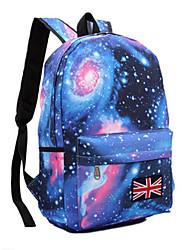 cheap -Unisex Bags Canvas School Bag Pattern / Print Stars for Outdoor Blushing Pink / Dark Blue