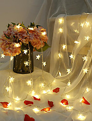 cheap -6M 40LED Star String Lights Twinkle Garlands Battery Powered LED Fairy Lights For Christmas Wedding Holiday Party Decorative Lamp Without Battery