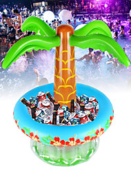 cheap -Pool Inflatable Drinks Cooler Storage Ice Bucket Wine Whisky Mixer Beach Party Tropical Hawaiian Summer Pool Inflatable Container PVC Coconut Tree