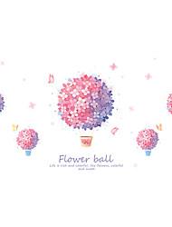 billige -lyserød blomster vægklistermærker dekorative vægklistermærker, pvc boligdekoration vægoverføringsbillede vægdekoration / aftagelig