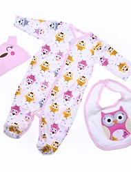 cheap -Reborn Baby Dolls Clothes Reborn Doll Accesories Cotton Fabric for 22-24 Inch Reborn Doll Not Include Reborn Doll Owl Soft Pure Handmade Girls' 3 pcs