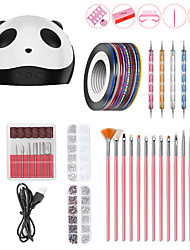 cheap -Nail Designs 2020 Nail Art Kit Manicure Set Min Nail Dryer Nail Brush USB Nail Polisher Basic Nail Art Tools Professional Best Quality