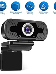 cheap -HD USB Webcam 1080p 90° Degree Super Wide Angle Range Low Light Gain Dual Microphones Adjustable Business Conference Webcam Plug and Play No Need Driver Support Windows 7 8 10 Linux MacOS