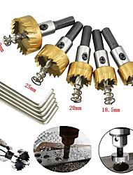cheap -5 Pcs HSS Drill Bit Hole Saws Set Stainless High Speed Steel Metal Alloy HSS Drill Bit Hole Saw Tooth Set Stainless Steel Cutter