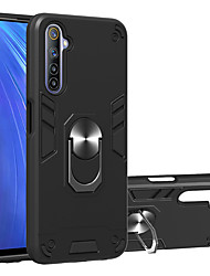 cheap -Case For OPPO K5 A11 A11X REALME 3 3Pro XT X2 5 C3 5Pro Q X RENO 2 2Z 2F Shockproof Ring Holder Back Cover Solid Colored TPU PC Metal