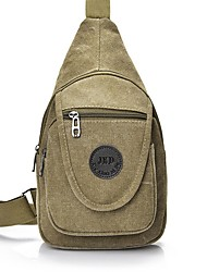 cheap -Men's Bags Canvas Sling Shoulder Bag Chest Bag Canvas Bag Daily Outdoor Black Army Green Khaki Coffee