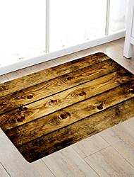 cheap -Retro Style Wooden Board Modern Bath Mats Nonwoven / Memory Foam Novelty Bathroom
