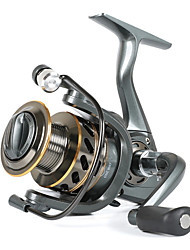 cheap -Fishing Reel Spinning Reel 5.2:1 Gear Ratio Ball Bearings Sea Fishing / Freshwater Fishing / Trolling & Boat Fishing / Hand Orientation Exchangable