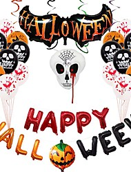 cheap -Party Balloons 27 pcs Pumpkin Bat Halloween Party Supplies Latex Balloons Boys and Girls Party Decoration 12inch for Party Favors Supplies or Home Decoration