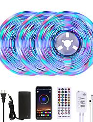 cheap -MASHANG Bright RGBW LED Strip Lights 15M Music Sync Smart LED Lights Tiktok Lights 3510LEDs SMD 2835 Color Changing with 40 keys Remote Bluetooth Controller for Home Bedroom TV Back Lights DIY Deco