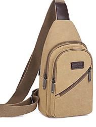 cheap -Men's Canvas Sling Shoulder Bag Canvas Bag Black / Blue / Brown