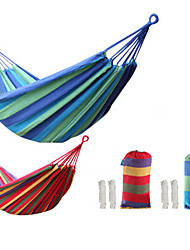 cheap -Tuban Camping Hammock Outdoor Portable Ultra Light (UL) Durable Wear Resistance Skin Friendly Canvas for 1 person Camping / Hiking Hunting Fishing Stripes Red Blue 200*80 cm