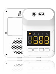 cheap -Non-contact K3S Wall Mounted Infrared Counter Temperature Measurement Thermometer with Alarm for Office Home Supermarket Subway School Community (no battery included)