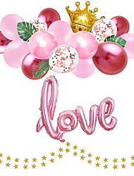 cheap -Party Balloons 18+4 pcs Valentine's Day Party Supplies Latex Balloons Paper Pom Poms Boys and Girls Party Decoration 8-12inch for Party Favors Supplies or Home Decoration