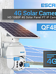 cheap -ESCAM QF480 1080P Cloud Storage PT 4G  PIR Alarm IP Security Cameras With Solar Panel Full Color Night Vision Two Way Audio IP66 With 15000mAh Battery
