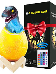cheap -Rechargeable Dinosaur Toys Egg LED Lamp USB 5V 16 Colors Dinosaur Night Light with IR24 Key Remote control Pat Touch 3 Control Ways