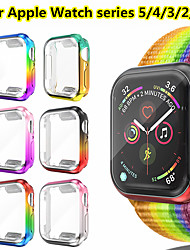 cheap -Protective Case Cover for Apple Watch Series 5/4/3/2/1 TPU Protection Cover Shell Smart Watch Bracelet Colorful Protective Cover Cover Hard Shockproof