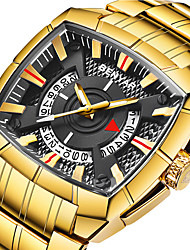 cheap -BENYAR Men's Steel Band Watches Quartz Modern Style Stylish Luxury Water Resistant / Waterproof Analog Black+Gloden Black Gold / Stainless Steel / Stainless Steel / Japanese / Calendar / date / day