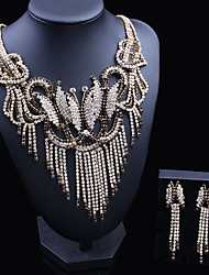 cheap -Women's Purple Red White Cubic Zirconia Necklace Bib necklace Tassel Butterfly Animal Artistic Luxury European Zircon Alloy Purple Blushing Pink 21-50 cm Necklace Jewelry For Wedding Party Evening
