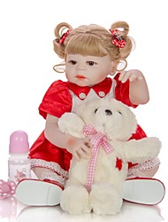 cheap -KEIUMI 22 inch Reborn Doll Baby & Toddler Toy Reborn Toddler Doll Baby Girl Gift Cute Washable Lovely Parent-Child Interaction Full Body Silicone 23D114-C156-H11-S24-S05-T16 with Clothes and