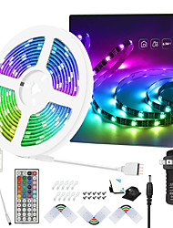 cheap -25ft 7.5M No-waterproof 5050 RGB Full color LED Strip Lights with 44-Key IR Remote Adapter Light Strip Kit DC12V