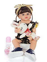 cheap -KEIUMI 22 inch Reborn Doll Baby & Toddler Toy Reborn Toddler Doll Baby Girl Gift Cute Washable Lovely Parent-Child Interaction Full Body Silicone 22D05-C301-S11-T23 with Clothes and Accessories for