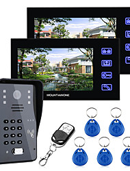 cheap -7inch Video Door Phone Intercom Doorbell With RFID Password IR-CUT 1000TV Line Camera  Wireless Remote Access Control System
