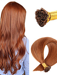 cheap -Fusion / I Tip Hair Extensions Human Hair 50 pcs Pack Straight Hair Extensions