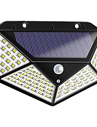cheap -ZDM® 1pc 6 W Solar Wall Light Waterproof / Solar / Motion Detection Monitor Cold White 1.5 V Outdoor Lighting / Courtyard / Garden 100 LED Beads