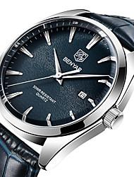 cheap -BENYAR Men's Sport Watch Quartz Modern Style Stylish Casual Water Resistant / Waterproof Calendar / date / day Analog Black Blue Brown / Stainless Steel / Leather