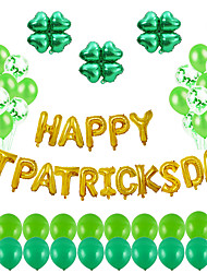 cheap -Party Balloons 63 pcs Stpatrics Day Party Supplies Latex Balloons Aluminum Balloons Boys and Girls Party Decoration 16-18inch for Party Favors Supplies or Home Decoration