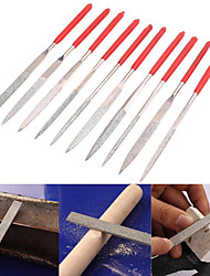 cheap -3*140 flat/square/triangular/semicircular file electroplating model shaping file flat file assorted file 10pcs