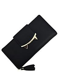 cheap -Women's Tassel / Zipper PU Leather Wallet Black / Blue / Red