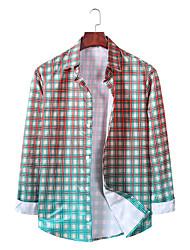 billige -Herre Ternet Skjorte Basale Hawaiiansk Daglig I-byen-tøj Sort / Gul
