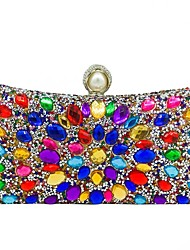 cheap -Women's Bags Polyester Alloy Evening Bag Crystals Sequin Wedding Bags Wedding Party Event / Party Black Gold Silver
