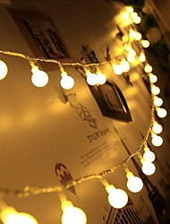 cheap -6M LED String Lights 40 LED Mini Balls Christmas Wedding Decoration Fairy Light Holiday Party Outdoor Courtyard Decoration Lamp USB Powered Christmas Gift