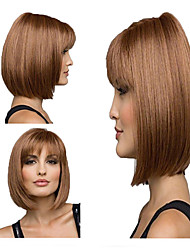 cheap -Synthetic Wig Hathaway Middle Part Wig Blonde Short Curly Golden Blonde Synthetic Hair 12 inch Women Synthetic Sexy Lady Hairstyle