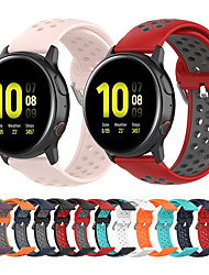cheap -Silicone Wrist Strap Watch Band for Samsung Galaxy Watch 42mm / Galaxy Active 2 42mm 44mm / Galaxy Active R500 / Gear S2 Classic / Gear Sport Replaceable Bracelet Wristband